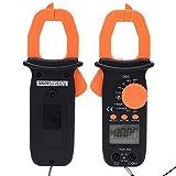 Pinza Amperimétrica, 606B Multímetro Digital de Pinza Portátil Medidor de Resistencia de Voltaje CA/CC 4000 Cuentas, con Tamaño Pequeño, Peso Ligero y Función de Retención de Datos
