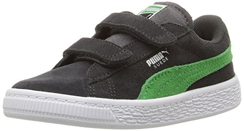 Puma Kids' Suede 2 Straps Inf Sneaker, Asphalt-Andean Toucan, 4 M US Toddler