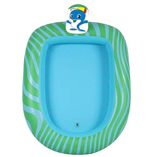 Abaodam Aufblasbarer Springbrunnen verdickt Kinder Spielpool Strand Rasen Schwimmbad Aufblasbarer Pool Aufblasbarer Pool Spielen für Kinder Kleinkind (Dolphin Muster S)
