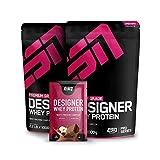 ESN Designer Whey Protein, 2 x 1000 g Double Chocolate + Gratis ESN Designer Whey 30g Sample