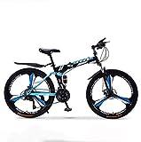 Bicicletas plegables de bicicleta de montaña, freno de disco doble de 30 velocidades, suspensión completa, antideslizante, bicicletas de carreras de velocidad variable para todo terreno para hombres