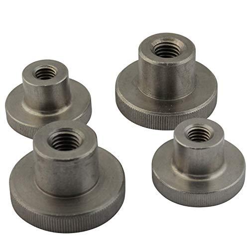 D2D | VPE: 4 unidades – Tuercas moleteadas M 5 según DIN 466 forma alta de acero inoxidable A1 VA – con borde moleteado