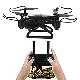 XINL Drone, helicóptero Quadcopter posicionamiento Plegable para Tomar fotografías para el Juguete RC al Aire Libre(Black)