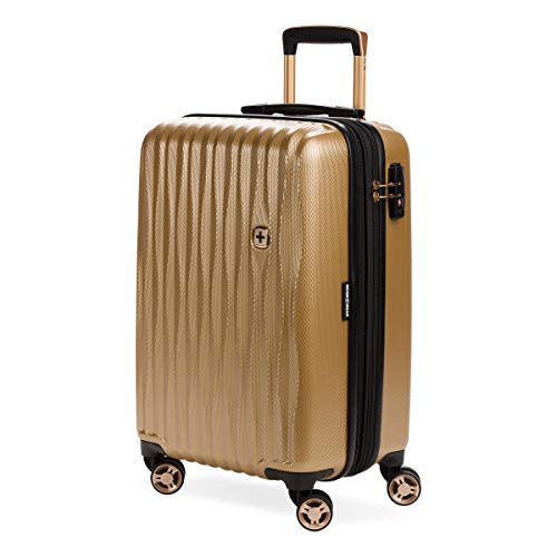 SWISSGEAR 7272 Energie Hardside Polycarbonate Spinner, Carry-On Luggage - Gold