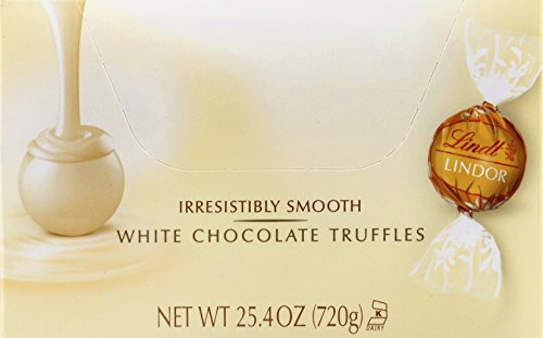Lindor White Chocolate Changemaker Truffle - 60 count per pack -- 12 packs per case.