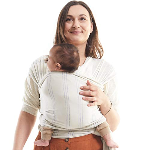 Boba Wrap Baby Carrier, Serenity Riviera - Original Stretchy Infant Sling, Perfect for Newborn Babies and Children up to 35 lbs