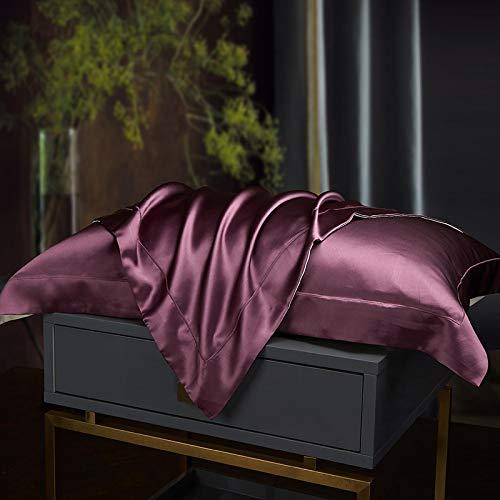 KEPOHK Funda de Almohada 100% Pura Seda Real Natural Mulberry 480 * 740mm Violeta