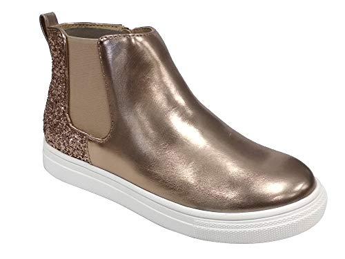Amazon Essentials Chelsea Boot, GOLD, 1 M US Big Kid