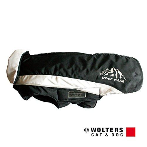 Wolters | Skijacke Dogz Wear wasserdichtem RV schwarz/grau | Rückenlänge 36 cm