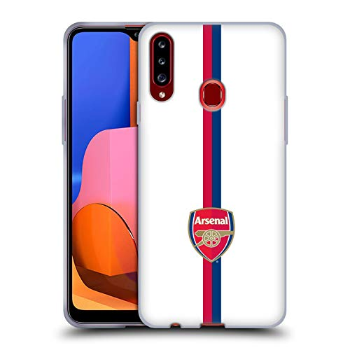 Head Case Designs Officially Licensed Arsenal FC Stripes 1 Crest 2 Soft Gel Case Compatible with Samsung Galaxy A20s (2019)