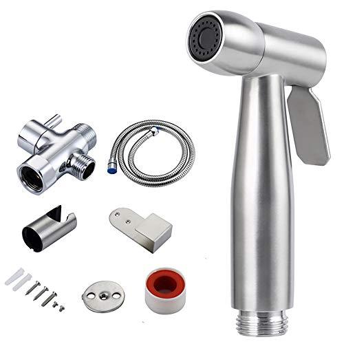 HaavPoois Hand-sprinkler voor privacy en douchekop van roestvrij staal, kan worden gebruikt voor groenten en fruit (set C) Conjunto A Zilver A.