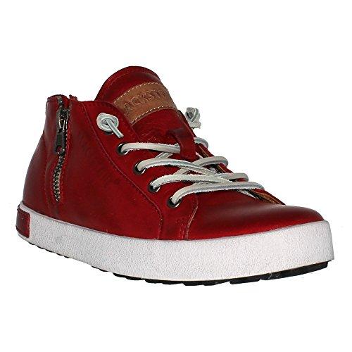 Blackstone JL24 Damen-Sneaker mit Reißverschluss, Rot (burgunderrot), 40 EU