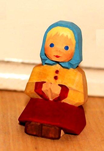 Stoff'l - FEINES FÜR KINDER Lotte Sievers-Hahn Krippenfiguren * Mädchen sitzend im Baumwollbeutel * 1428