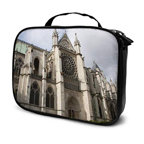 Great Luminous Saint Denis Church Travel Makeup Organizer Case Cosmetic Bags for Women Bathroom Cosmetic Bag Multifunction Printed Pouch for Women