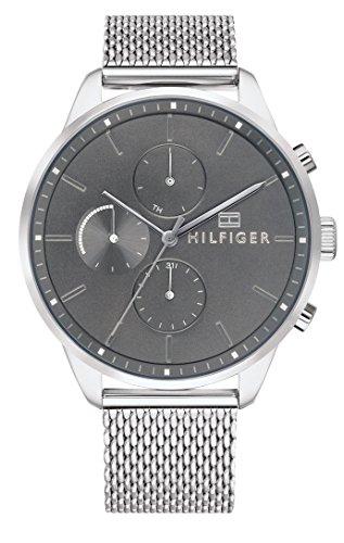 Tommy Hilfiger Unisex Multi Zifferblatt Quarz Uhr mit Edelstahl Armband 1791484