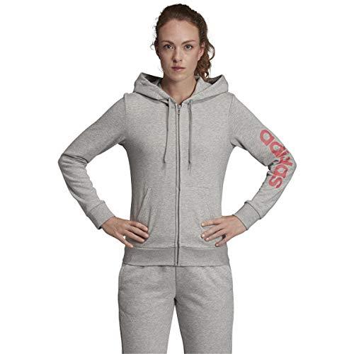 adidas Essentials Linear Full-Zip Hoodie Sweatshirt - Capucha Mujer