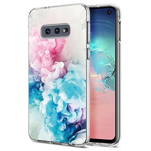 ZhuoFan Funda Samsung Galaxy S10e, Cárcasa Silicona Transparente con Dibujos Diseño Suave Gel TPU Antigolpes de Protector Piel Case Fundas para Movil Samsung S10e 5,8 Pulgadas, Rosado Azul