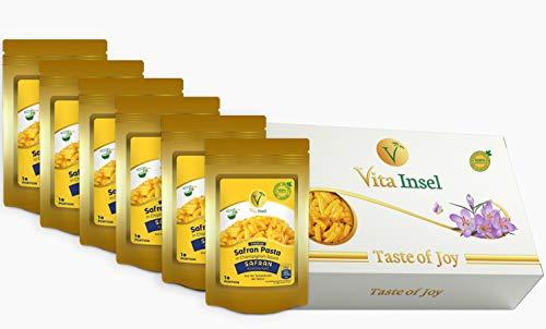 6 x Safran Pasta in Champignon-Sauce von VitaInsel mit Stimmungsaufhellender Wirkung | Gesund | Geschmackvoll…