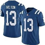 LAVATA Maglia da Uomo Maglietta Football Americano Indianapolis Colts 13# T.Y. Hilton T-Shirt per Tifosi Uniformi da Calcio Unisex Stampa Manica Corta per Uomo