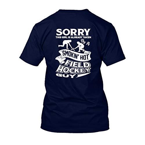 Taken by A Hot Field Hockey - Camiseta de manga corta para adulto, Camiseta de algodón ultra - azul marino, M