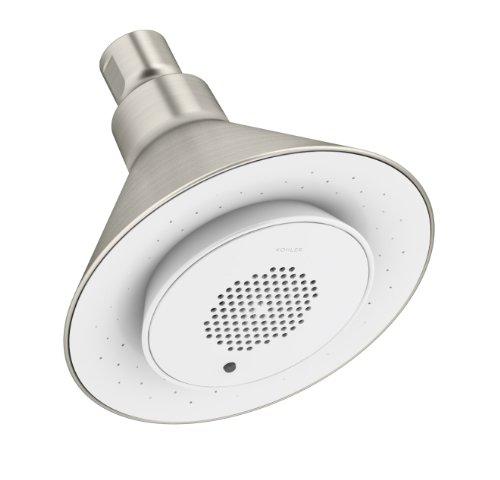 KOHLER Brushed Nickel Moxie Showerhead and Wireless Speaker