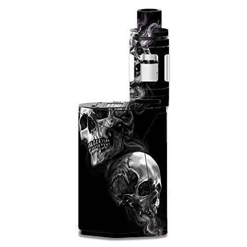 Skin Decal Vinyl Wrap for Smok GX350 Kit Vape Mod stickers skins cover/ glowing Skulls in Smoke