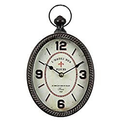fzYRY Black 12 Inch Wall Clock European Retro Design Oval-Shaped Old-Fashioned Wall Clock Retro Craftsmanship Wall Clock Suitable for Public Areas in Living Room Kitchen Office Space Wall Clock