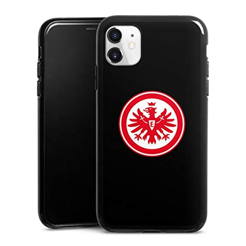 DeinDesign Silikon Hülle kompatibel mit Apple iPhone 11 Hülle schwarz Handyhülle Eintracht Frankfurt SGE Adler