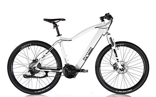Allegro Invisible Dialm E-Bike Mountainbike Herren 27,5 Zoll, E-MTB, Elektro Mountenbike E-Bike, Weiß