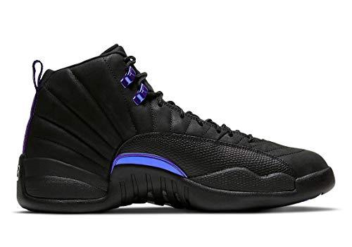 Jordan Air 12 Retro Zapatos Hombre Blanco/Azul Francés/Metálico Plata/Varsity Rojo 130690-113, (negro (Black/Black-Dark Concord)), 47.5 EU