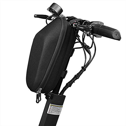 LLQ Bike Frame Bag, Water Resistant Triangle Storage Pack Mountain Road Bicycle Front Top Tube Bag Handlebar Pouch for Cell Phone, Cycling Accessories (Black)