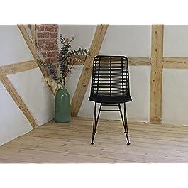 Animal-Design Magic Chaise en rotin moderne tressé pour salle à manger Marron clair