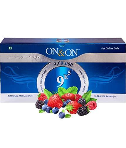 ON & ON 9E5 Drink Concentrate più alto valore ORAC Prodotto è una formulazione attiva di ingredienti naturali chiave 30 bustine/tubo in un unico pacchetto