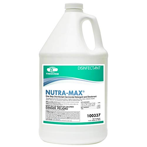 Theochem - Nutra-Max - Concentrated Disinfectant, Cleaner, Deodorizer - 1 Gallon - EPA List N Disinfectant - Made in USA