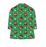 Toddler Boys Girls Elmo Holiday Snowflake Robe Santa Bathrobe Pajamas (3t, Green)