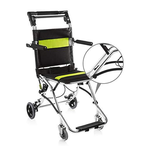Folding Transport-rolstoel, ultralichte aluminiumlegering, transportstoel met draagtas, weegt slechts 7,5 kg voor ouderen en kinderen