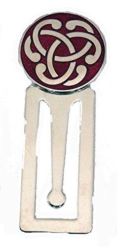 Emaille Rot Keltischer Knoten Design Lesezeichen, mit Chrom Basis (0288)