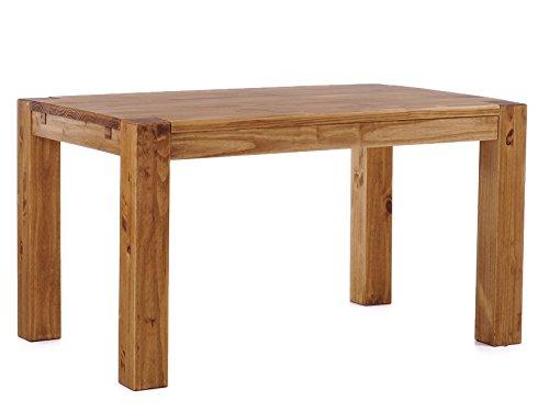 Brasilmöbel® Esstisch 160x90x78 Rio Kanto - Brasil Pinie Massivholz - Größe & Farbe wählbar - Esszimmertisch Küchentisch Holztisch Echtholz - vorgerichtet für Ansteckplatten - Tisch