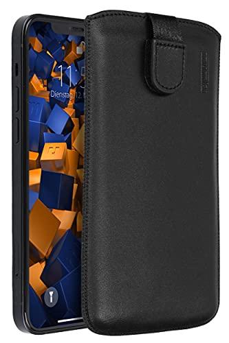 mumbi Echt Ledertasche kompatibel mit iPhone 13 Hülle Leder Tasche Hülle Wallet, schwarz