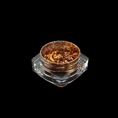 Nagelflocken/Nagelglitzerpuder, für unregelmäßige Nagelkunst, Maniküre, Pailletten, Chrom, Pigmentspitzen