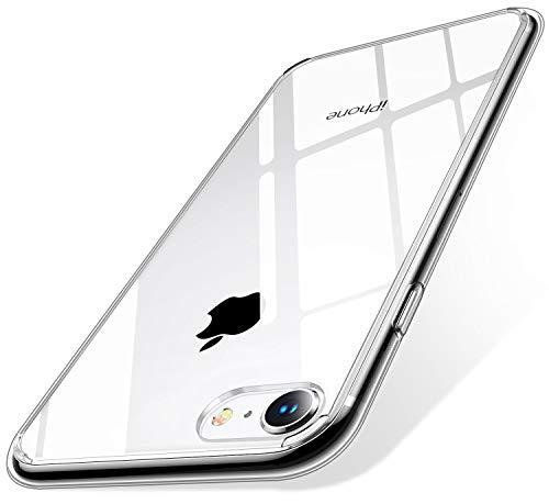 【Humixx】iPhone SE ケース 第2世代 iPhone8 ケース iPhone7ケース【2020年新型】クリアケース [ 薄型 軽量 ] [ ワイヤレス充電対応 ] [ レンズ保護 耐衝撃 ] [ ガラスフィルム付き ] 透明(iPhone 7/8/SE 4.7インチ)[Skin Series]