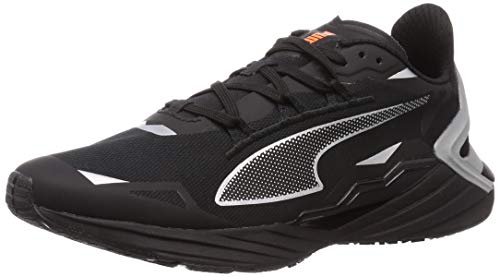 PUMA ULTRARIDE Runner ID, Zapatillas para Correr de Carretera Hombre, Negro Black/Metallic Silver, 40.5 EU