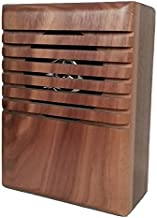 YourBell MP3 Door Chime, Programmable DoorBell, Walnut With Clear Coat. Made In The USA By BCS Ideas Corporation.