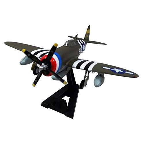 GLXLSBZ Plastikmodell im Maßstab 1:72, P-47D Thunder Fighter, Sammlerstücke und Geschenke für Erwachsene, 6,1 Zoll x 5,8 Zoll