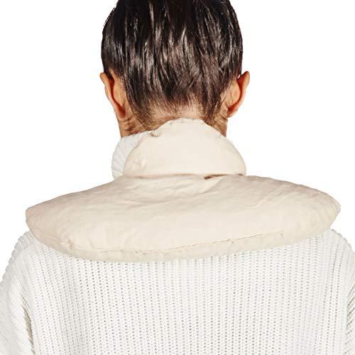 Hemma Nature Almohada térmica de algodón orgánico para cuello y hombros