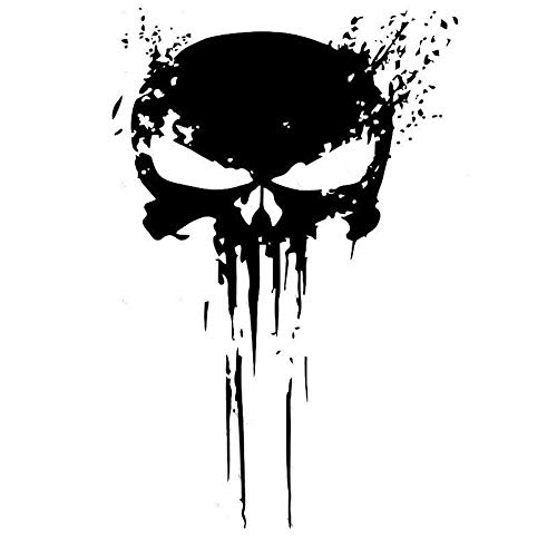 Carrfan Punisher Skull Blood Vinyl Car Stickers Calcomanías Motos Decoración