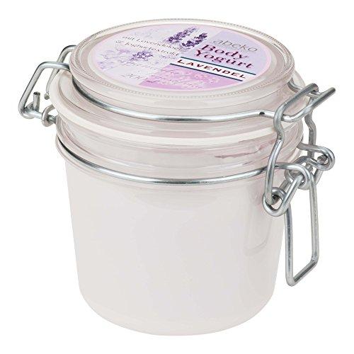 abeko Body Yoghurt de jojoba bio 200 ml de lavande avec et huile d'olive et extrait de yaourt