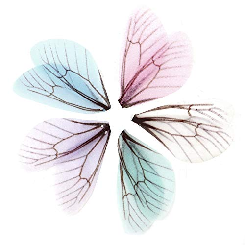 Monrocco 50Pcs Colorful Dragonfly Wing Charms Fashion Butterfly Wing Jewelry Charms Earrings Pendant for Jewelry Making