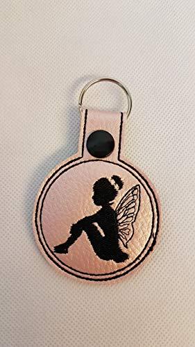 Fee Schlüsselanhänger Taschenbaumler Anhänger Geschenk Mitbringsel Kleinigkeit Schlüsselbaumler Fee rosa
