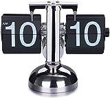 DOBO Orologio da Tavolo Vintage Flip Clock Design Elegante Nero...